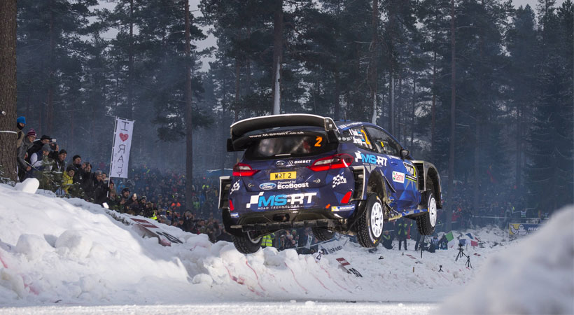 Ott Tanak y su Ford Fiesta WRC