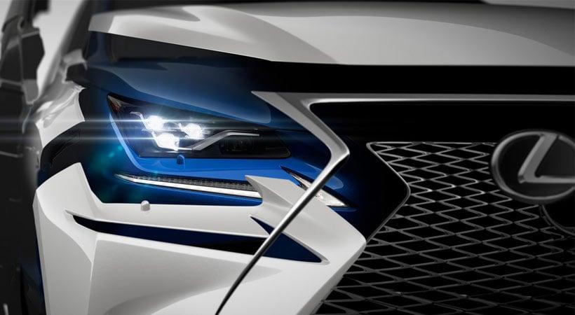 Detalle frontal del nuevo Lexus NX