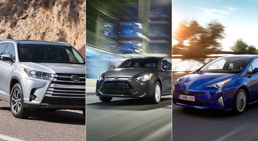 Toyota Yaris, Prius y Highlander
