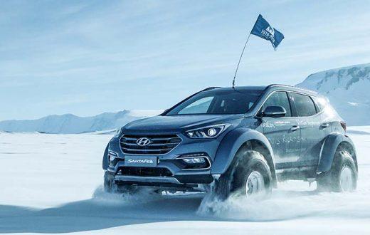Hyundai Santa Fe conquistó la Antártida