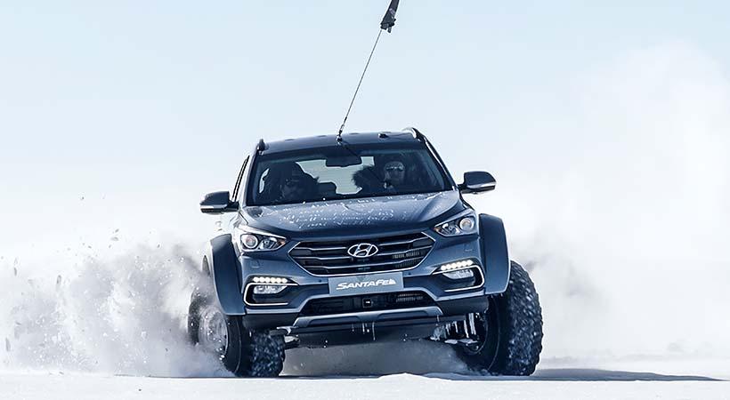 Test Drive extremo; Hyundai Santa Fe conquistó la Antártida