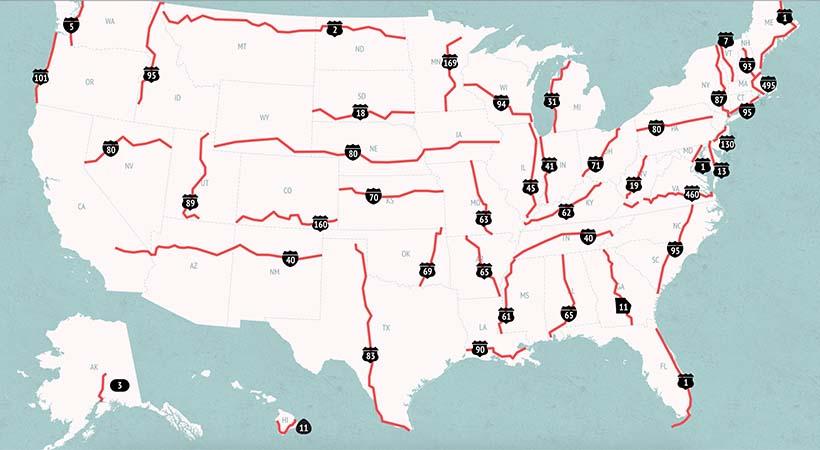 Top 10 carreteras más peligrosas de Estados Unidos