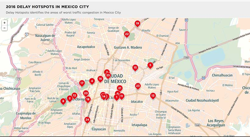 Top 10 ciudades con peor tráfico