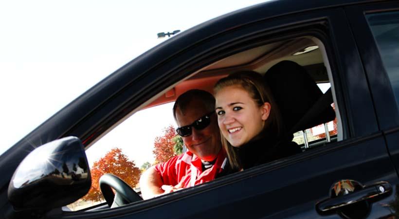 Lecciones de conducción para adolescentes
