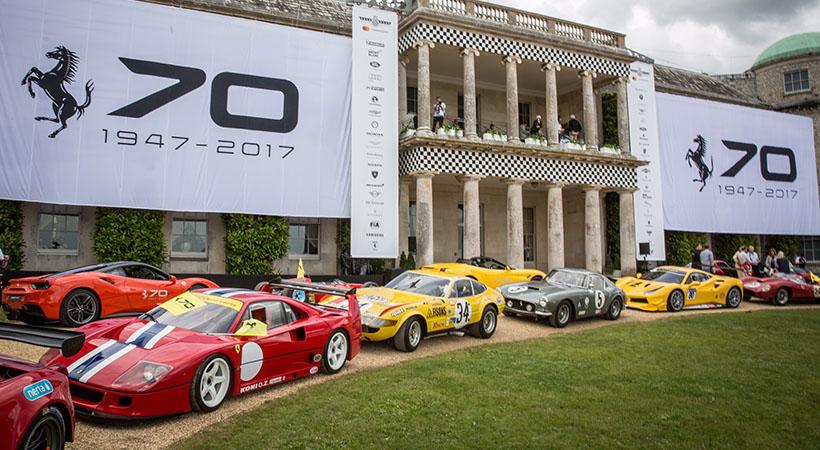 70 Aniversario Ferrari en el Goodwood Festival of Speed