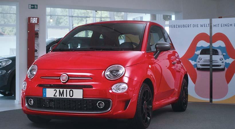 FIAT 500 2 millones entregado en Alemania
