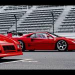Ferrari F40 LM y GTO Evo homenajeados por japoneses
