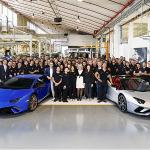 Doble celebración Lamborghini 9,000 del Aventador y el Huracán
