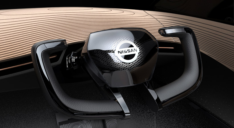 Nissan IMx Concept: el volante se retrae cuando se pone en modo autónomo