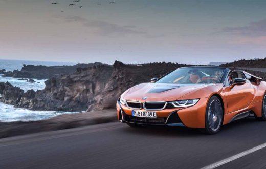 BMW i8 Roadster, Auto Show Los Angeles 2017, autos eléctricos BMW