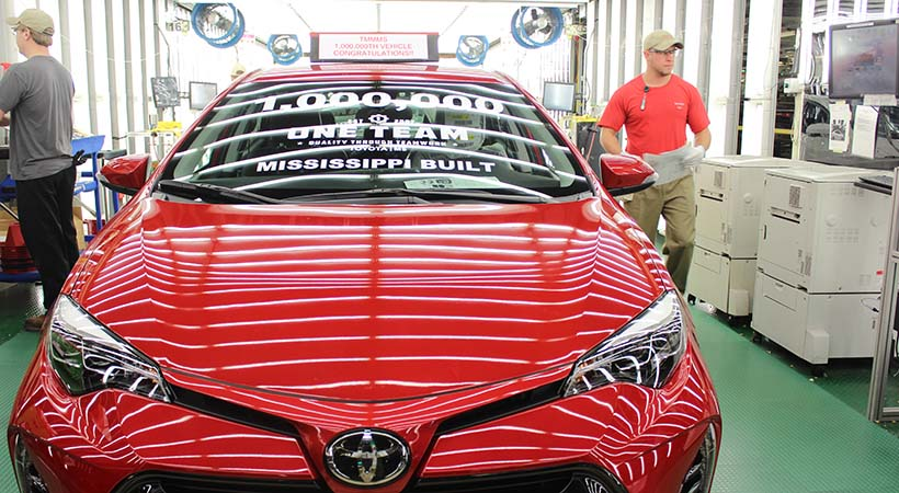 Toyota Corolla 1 millón Made in Mississippi