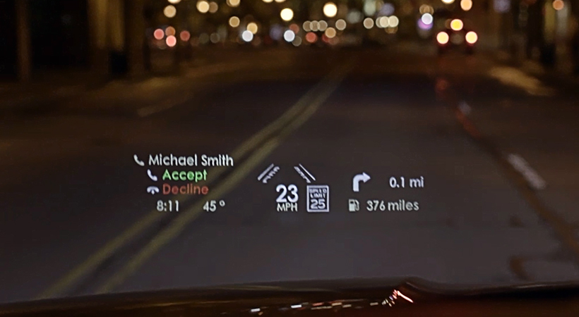 Lincoln Navigator con Head-up Display