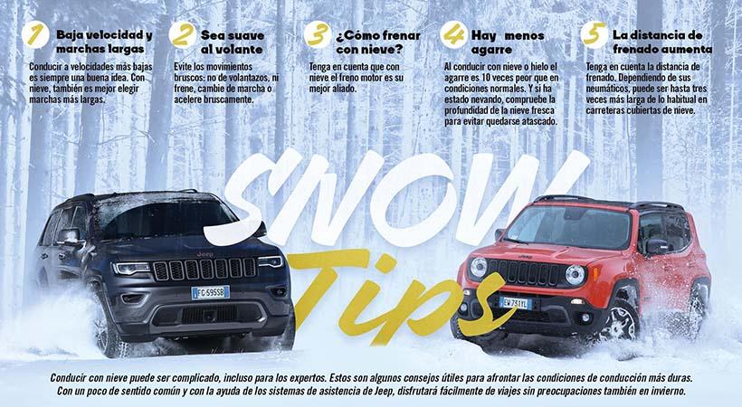 Top 5 Consejos de Jeep para manejar en la nieve