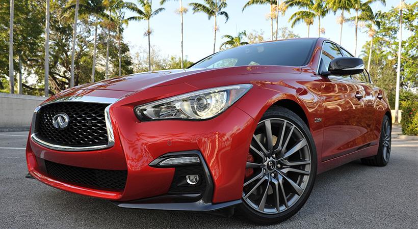 Test Drive Infiniti Q50 Red Sport 2018