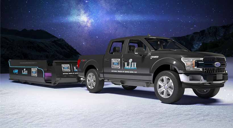 Super Bowl LII, Tough Sleigh Ride, Ford F-150 2018