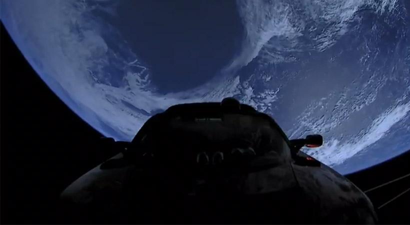 Tesla Roadster rumbo al espacio