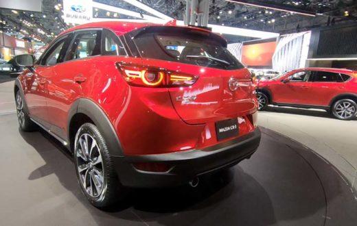 Exhibición roja Mazda