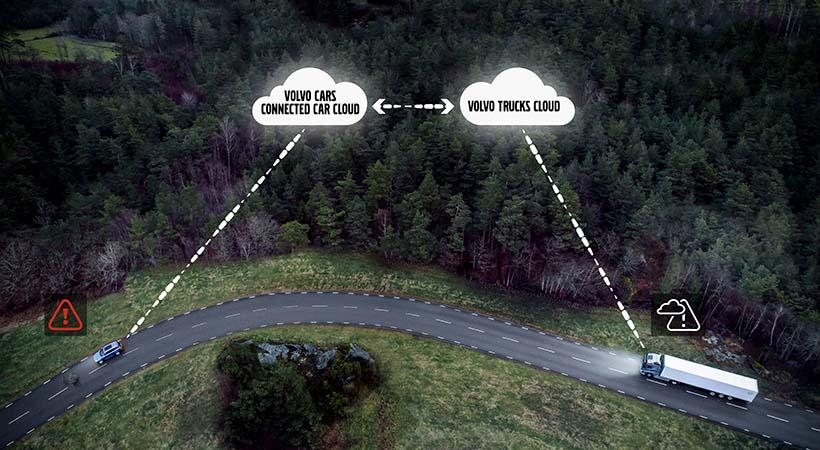 Volvo Cars conectado con Volvo Trucks en pro de la seguridad