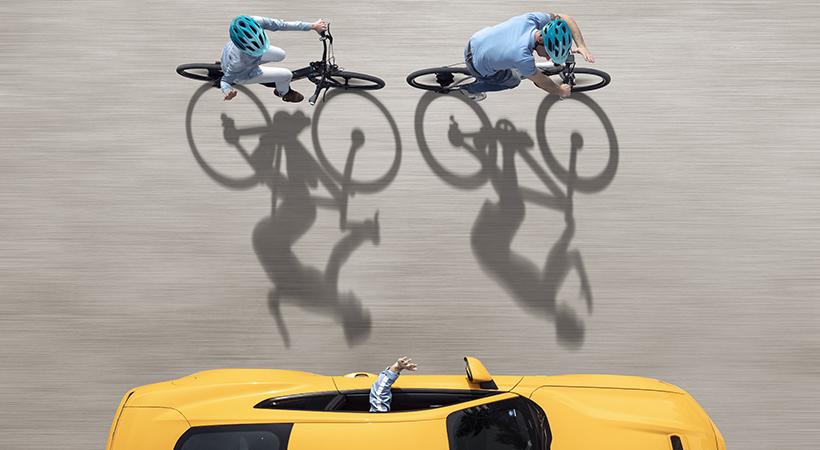 Autos vs bicicletas