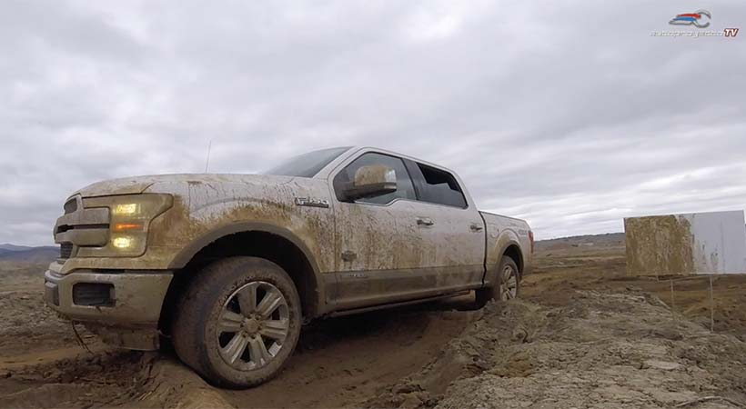 Video Test Drive Ford F-150 Power Stroke Diesel 2018 en off-road