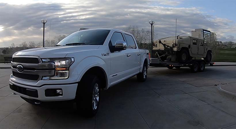 Video Test Drive Ford F-150 Power Strole Diesel 2018