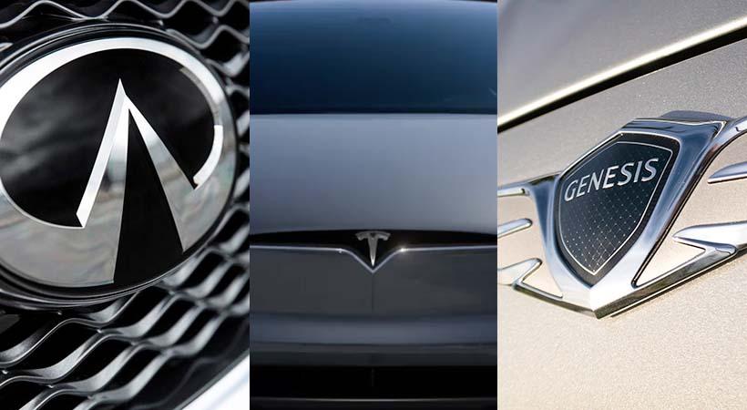Marcas de lujo más confiables 2018; Infiniti, Tesla y Genesis en el No. 1