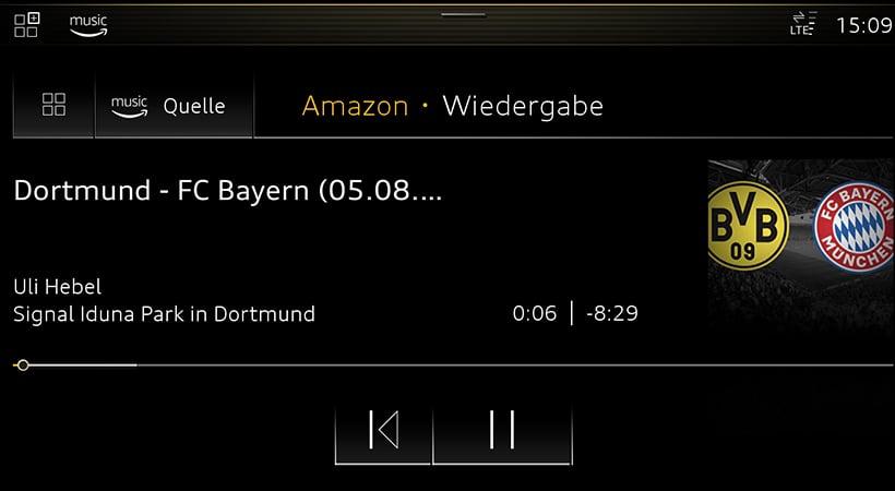 Audi Connect con Amazon Music, a tiempo para el Mundial de Fútbol