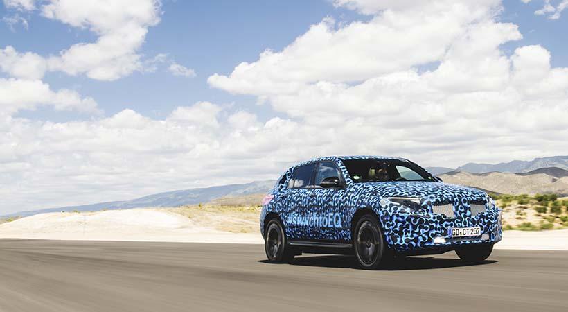Test Drive Mercedes-Benz EQC bajo calor extremo en España