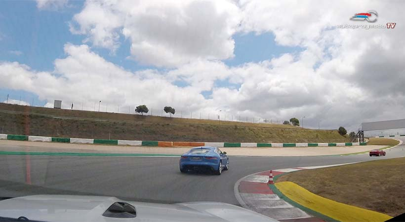 Jaguar F-Type S 2018 en el Autódromo Internacional do Algarve, Portugal