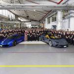 Lamborghini construye el Aventador 8,000 y el Huracán 11,000