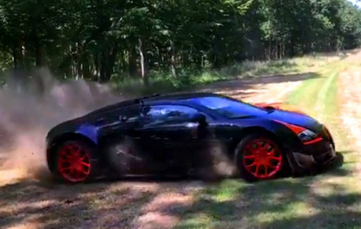 Video, Bugatti Veyron Vitesse WRC ¡haciendo drifting off-road!