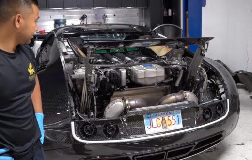 cambio de aceite del Bugatti Veyron