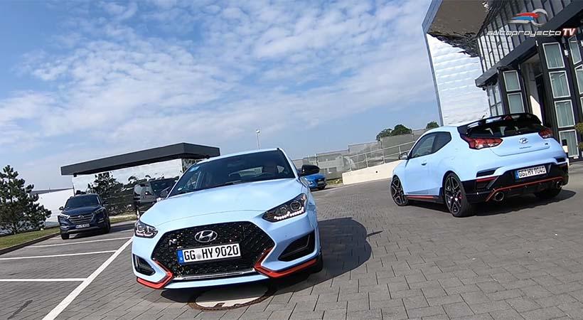1er. vistazo Hyundai Veloster N 2019 en el Nürburg Autobahn 257
