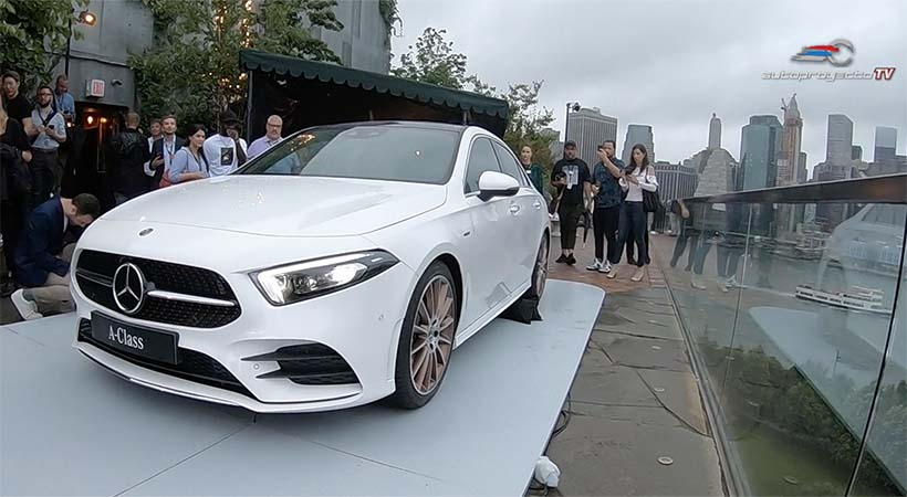 Debut global Mercedes-Benz A Class 2019 en Brooklyn, New York