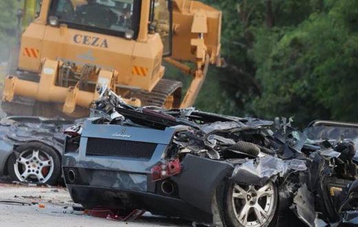 Trituración de súper autos en Filipinas