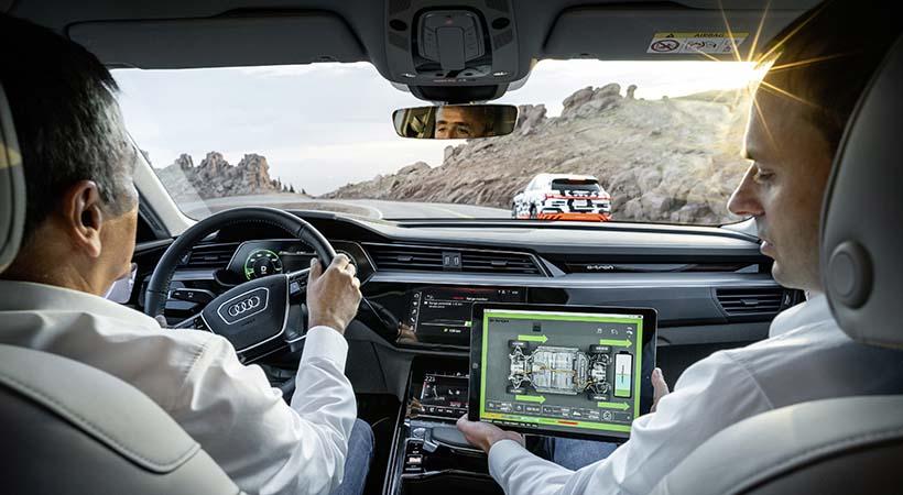 Test Drive Audi e-TRON Prototipo en Pikes Peak, recuperación de energía