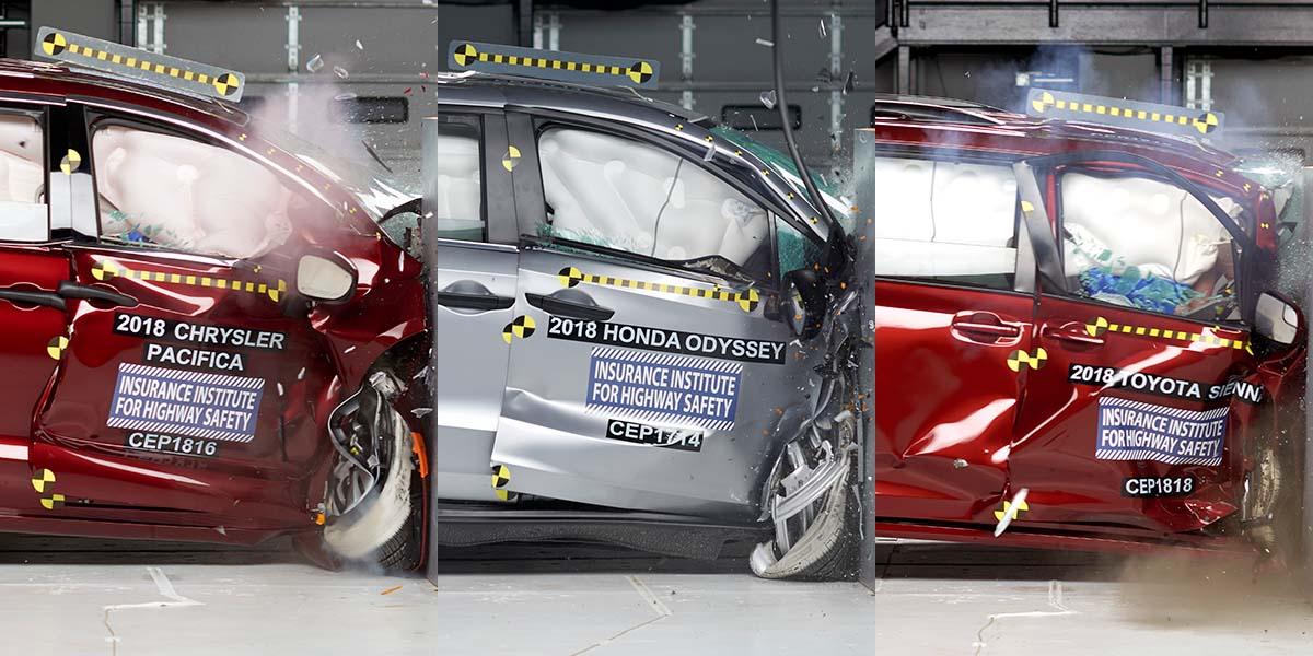 Pruebas de choque minivans 2018