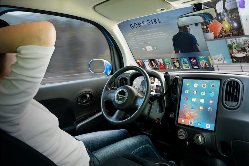 5ta. pantalla del auto