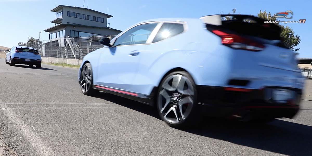 Hyundai Veloster N 2019 en el Thunderhill Racepark