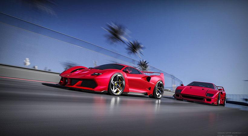 Ferrari F40 Tribute, una versión modernizada del legendario superauto
