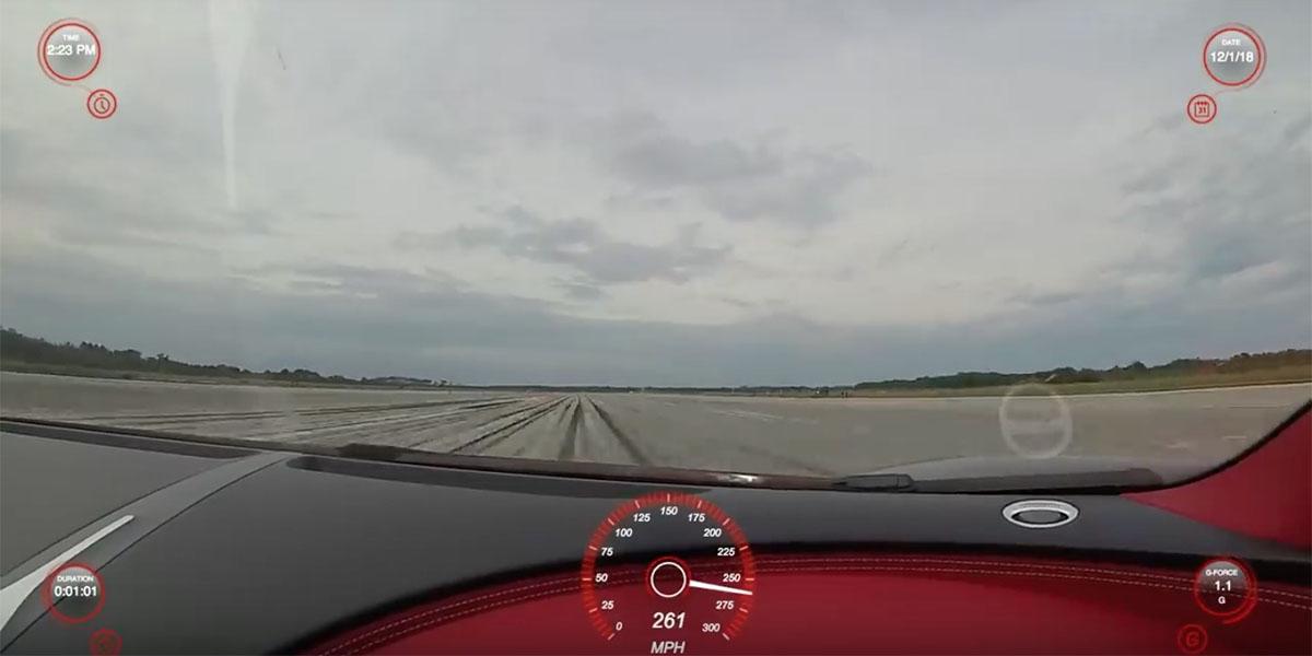 Bugatti Chiron a 261 mph