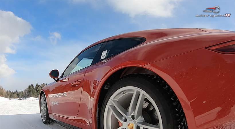 Clases de manejo Porsche sobre hielo ... a 12 grados bajo cero!