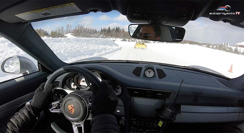 Clases de manejo Porsche sobre hielo