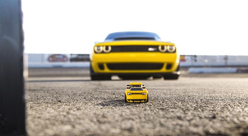 Dodge Challenger y Charger R / T Lego Speed Champions