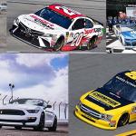 Autos, camionetas Ford, Chevrolet y Toyota en la NASCAR 2019