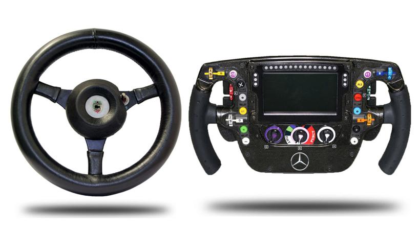 Evolución de los volantes McLaren