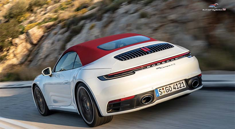 Así funciona el techo del Porsche 911 Carrera Cabriolet 2020