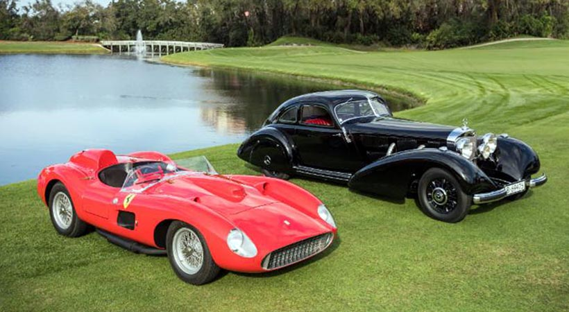 Mercedes-Benz y Ferrari, Best in Show en Amelia Island