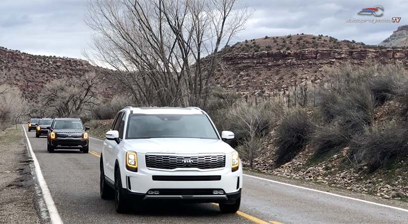 Video Kia Telluride 2020 en la carretera, en off-road en la nieve