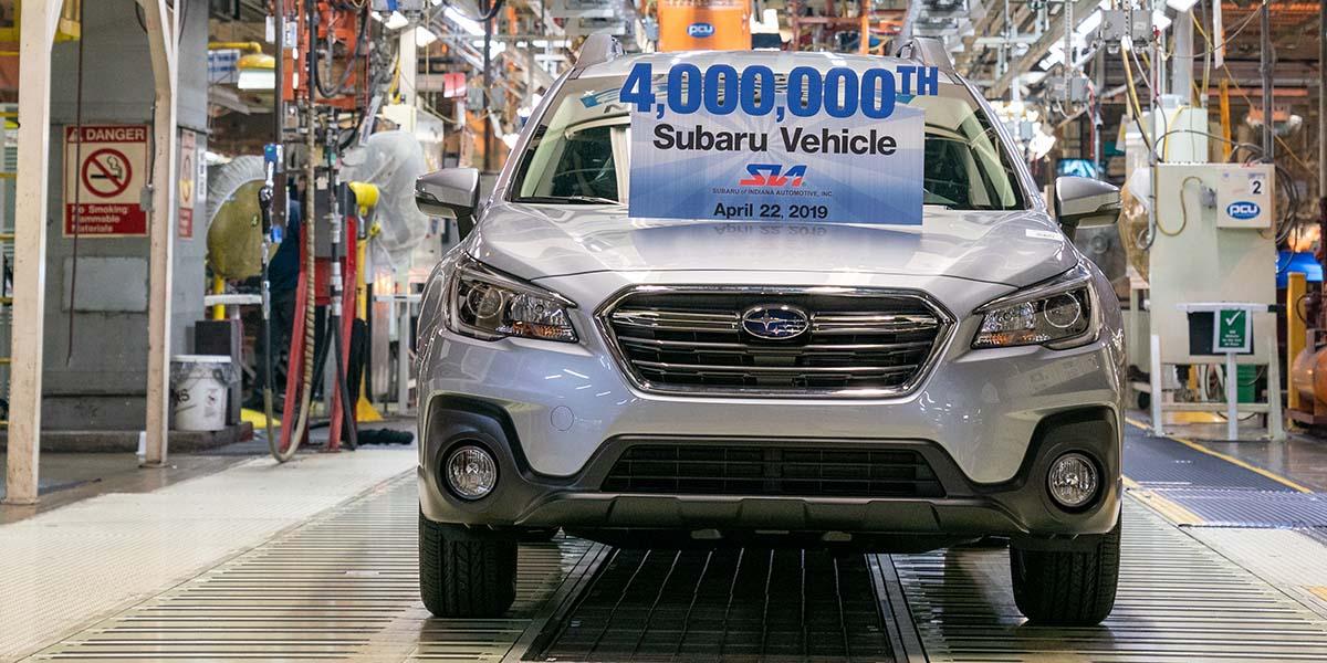 Subaru 4 millones MADE IN USA